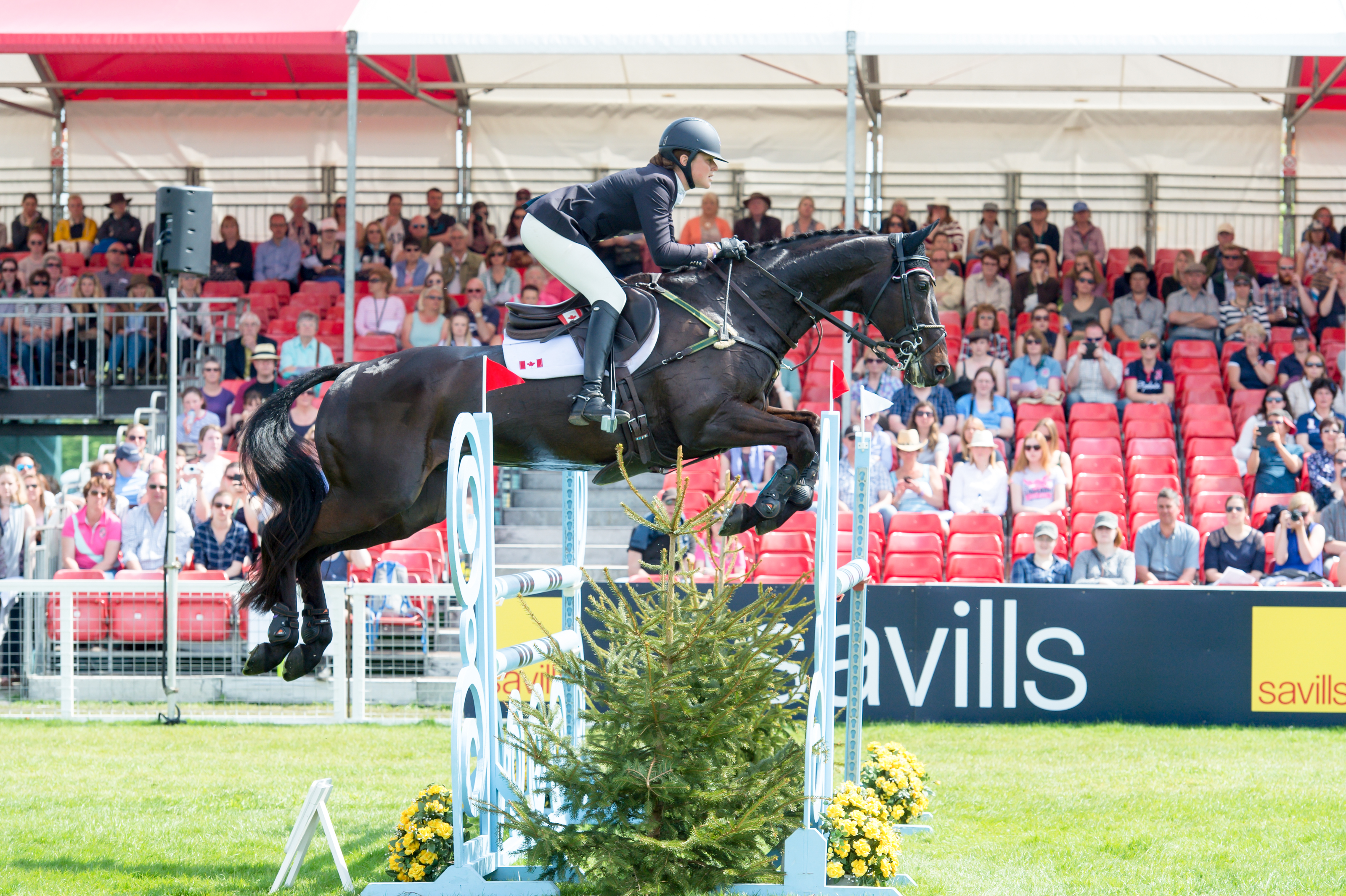 Kathryn Robinson of Canada riding Let it Bee